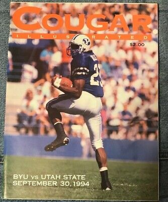 1994 BYU VS Utah State Collage Football Game Program NCAA Cougars Aggies