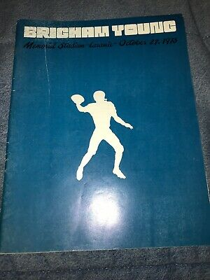 1973 BYU VS. Wyoming Collage Football Game Program NCAA UTAH Cowboys