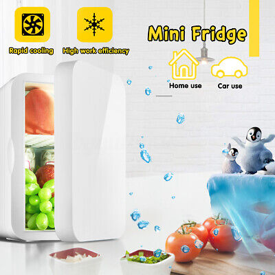Car/Home Dual Use 6L Mini Fridge Table Top Drink Beer Cooler Warmer Bar Freezer