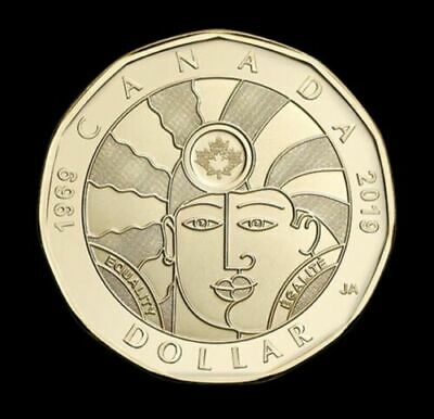 NEW! 2019 $1 Dollar EQUALITY coin Canada Loonie By artist Joe Average.Rare.Hurry