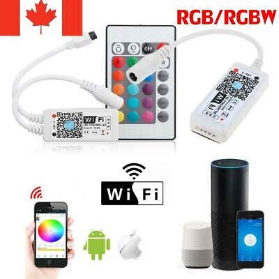 RGW RGBW WiFi Remote Controller for LED Strip Lights  IOS Android Google Home