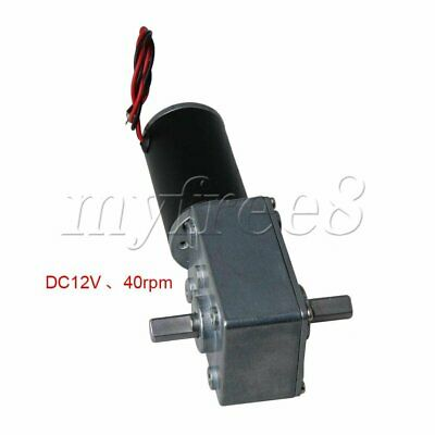 31ZY DC12V Reversible Worm Speed Reducer Double-Shaft Motor 40RPM for DIY