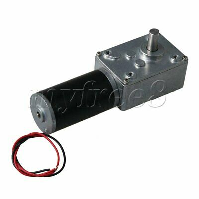 DC12V High Speed 470rpm Worm Gear Motor Reducer Geared Motor Shaft Dia 8mm