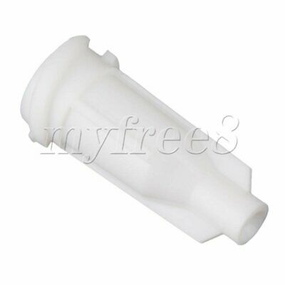 100x Milky Plastic Dispensing Syringe Barrel Tip Caps with Screw Type Connector