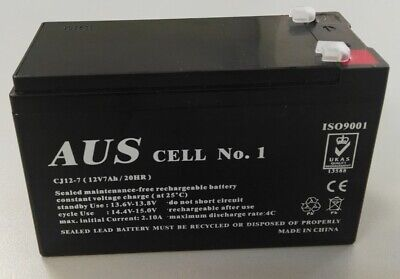 Aus Cell No.1 Sealed Lead Acid Rechargeable Alarm UPS Battery 12V7Ah CJ12-7