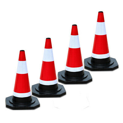 450mm Safety Cones Reflective Sleeve Road Traffic Cone Rubber Construction Soft