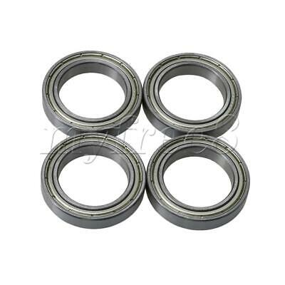 4x Silver Bearing Steel 25mm ID Iron Cover Ball Shielded Bearing Replacements