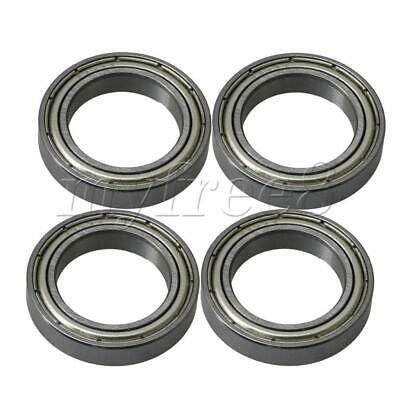 4x Silver Bearing Steel Iron Cover Ball Shielded Bearing 61803ZZ 26mm OD
