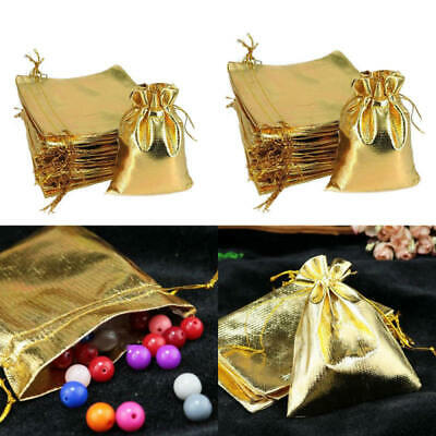 10PCS Drawstring Jewelry Pouches Bags Cotton Gift Wedding Favors Helpful gi Q6N7