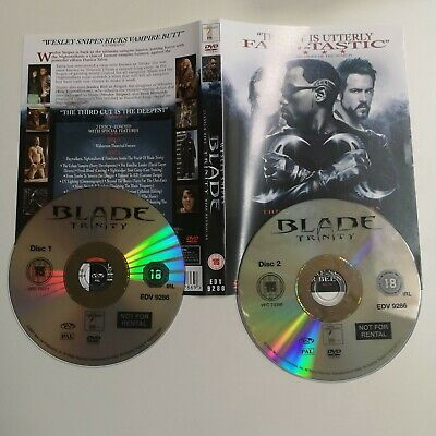 Blade Trinity (DVD, 2005, 2-Disc Set) Wesley Snipes, Jessica Biel  R2, DISC ONLY