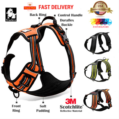 Truelove Dog Harness No-Pull Strong Adjustable Reflective Pet Puppy Safety le US