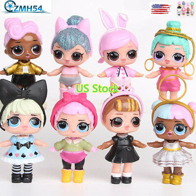 8pcs LoL Doll Unpacking High-quality Dolls Baby Tear Open Color Change Egg LoL