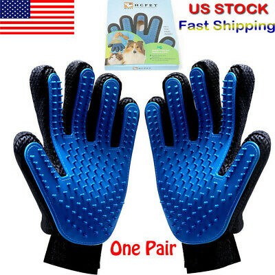 Pet Grooming Glove Brush Remover Fur Massage Loose Hair Removal Tool for Dog Cat