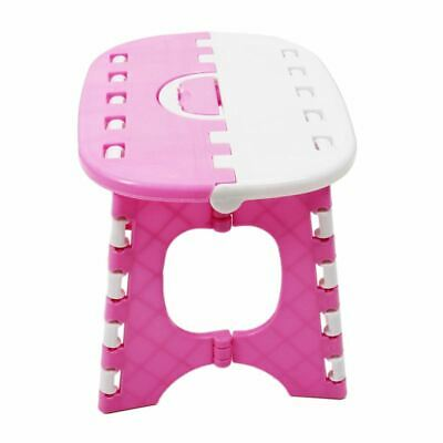 Plastic Folding 6 Type Thicken Step Portable Child Stools (pink) 24.5*19*17 J6W5