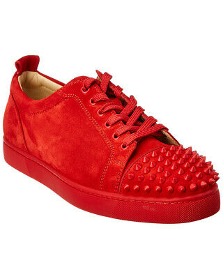 8d97586d9a5 CHRISTIAN LOUBOUTIN LOUIS Junior Spikes Reglisse Flat Mens Low Top ...
