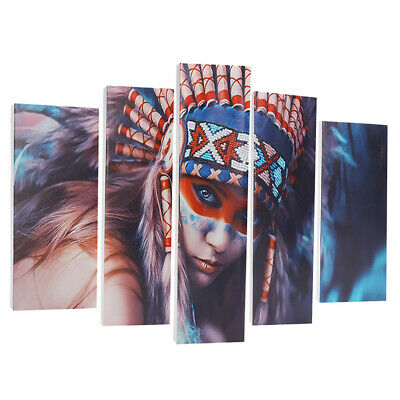 5Pcs Set Indian Woman Canvas Print Art Painting Wall Picture Modern