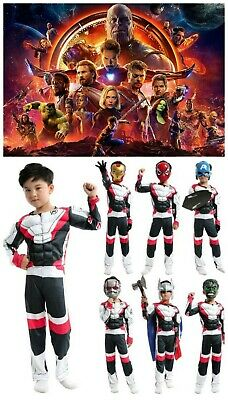 Avengers Endgame Quantum Realm Kids Muscle Costume Book Week Cosplay Iron Man