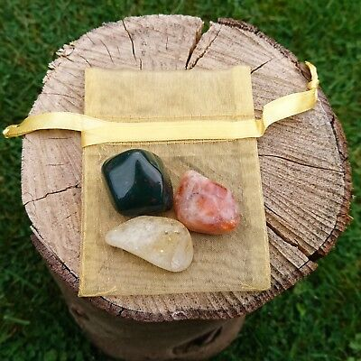 Crystal Collection For Energy Health & Vitality ~ Sunstone Citrine Bloodstone