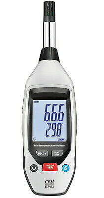 Handheld temperature and humidity meter thermo-hygrometer Bluetooth Smart App