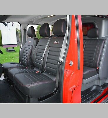 FRONT REAR SEAT COVERS INC EMBROIDERY 188 189 BEM RENAULT TRAFIC CREW CAB 2014