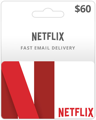 $60 Netflix Gift Card INSTANT DELIVERY