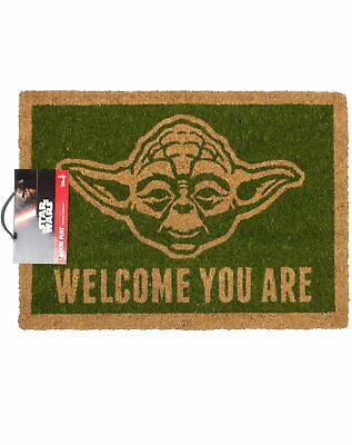 Star Wars Yoda Welcome You Are Oficial Felpudo Alfombra Entrada Puerta Casa