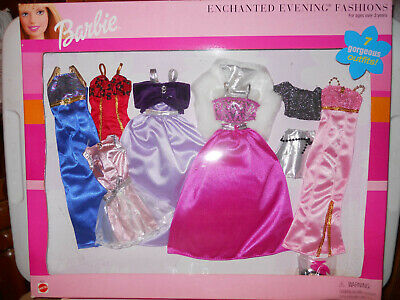 Barbie ENCHANTED EVENING FASHIONS Giftset  1999 Clothes pink