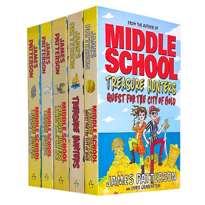 James Patterson Collection Middle School Treasure Hunters Series 5 Books Set