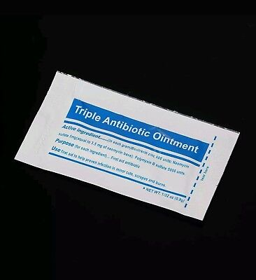5 x 0.9g Triple Antibiotic Ointment / Cream sachets for cuts scrapes and burns