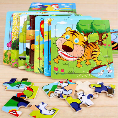 wooden puzzles kids Educational animal Toys infan two years old for toddlers