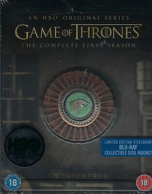 Game of Thrones: The Complete First Season SteelBook w/Magnet (Region Free UK)