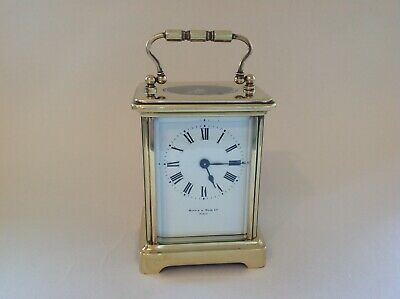 Miniature Antique French Carriage Clock Serviced Apr 2019