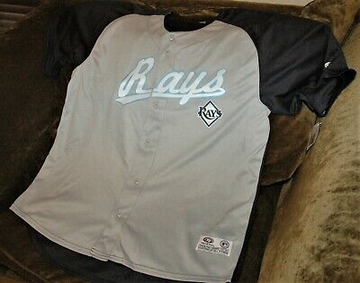 Rare Jim Morris jersey! Tampa Bay Ray's men's XL NEW with tags MLB throwback