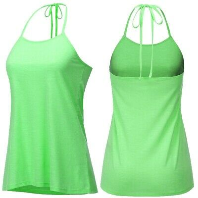 Backless Beach Tank Tops Sexy Halter T-shirt Soft Women Summer Vest Plus Size