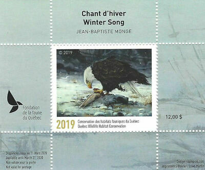 2019 Canada Quebec  Wildlife Habitat Conservation  -DQ91    Mint NH