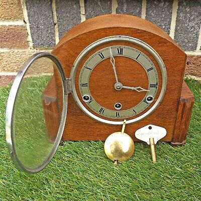 Art Deco Westminster Chime Clock - 8 Day British Made - Working Order Chimes