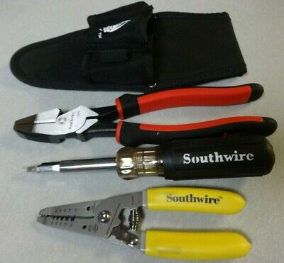 Southwire Electrician Tool EKIT-4 Side Cutting Plier SCP9  S1018STR Wire Strip