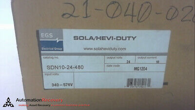 Egs Sdn10-24-480,Power Supply,Configuration; Enclosed,, New #267407