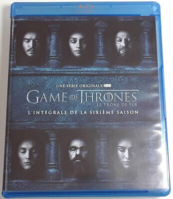 GAME OF THRONES The Complete Sixth Season Blu-Ray REGION-FREE FRENCH IMPORT 6