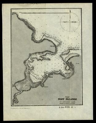 Philippine Islands Port Palanog 1902 detailed nautical chart map