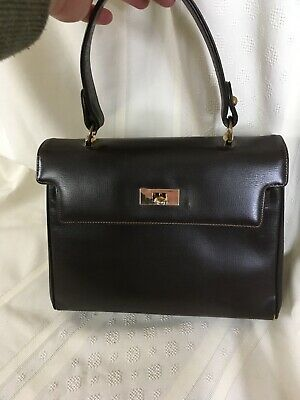 Dark Brown Faux Leather Handbag Purse