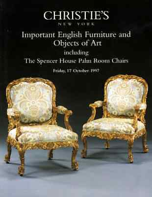 Christie's Important English Furniture : The Spencer House Palm Room Chairs