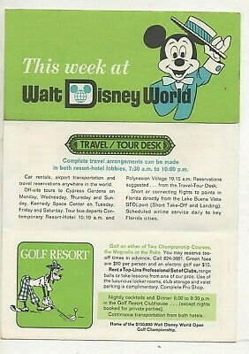 Brochure For This Week At Walt Disney World