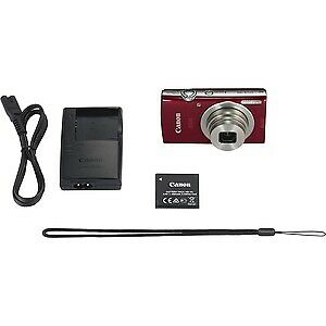 "NEW! Canon Ixus 185 20 Megapixel Compact Camera Red 6.8 Cm 2.7"" Lcd 16:9 8X Opti"