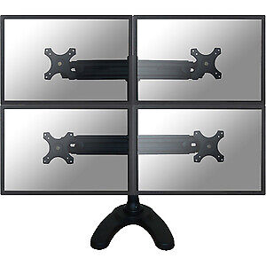 "NEW! Newstar Tilt/Turn/Rotate Quad Desk Stand for Four 19-30"" Monitor Screens He"
