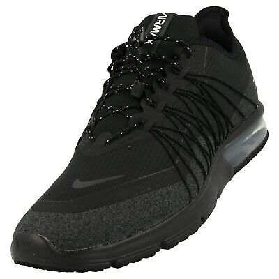 buy online b788e 7200f Nike Air Max Sequent 4 Utility Run Shoes Blk Anthracite AV3236-002 Mens Sz 9