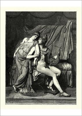 18985717 A1 (84x59cm) Poster of Helen of Troy and Paris