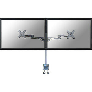"NEW! Newstar Full Motion Dual Desk Mount Clamp for Two 10-27"" Monitor Screens He"