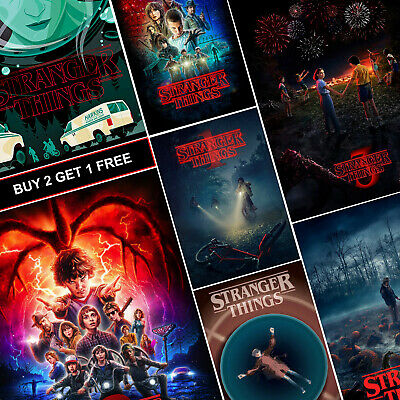 Stranger Things TV Show Posters A4 HD Gloss Prints Art Demogorgon Eleven Alexei