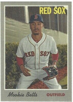 2019 Topps Heritage Mookie Betts  1970 Cloth Sticker Walmart Exclusive #6